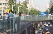 成都,春熙路,都市,繁华,天桥,人群,车流,城市,视频素材