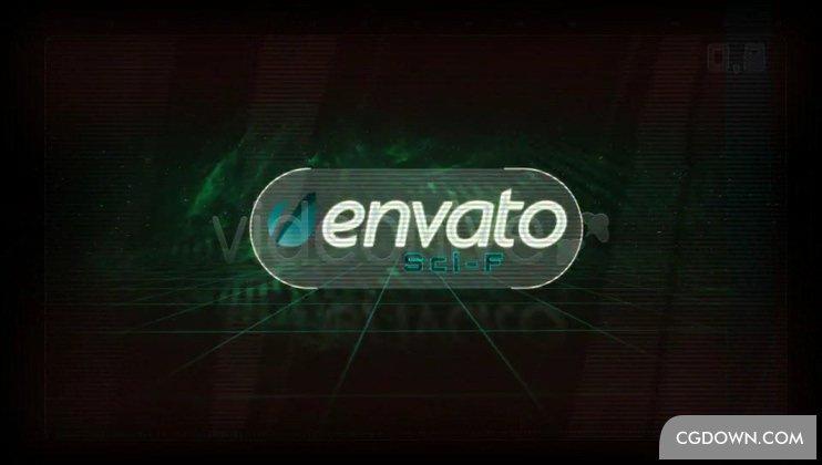 科技复古游戏效果logo视频素材