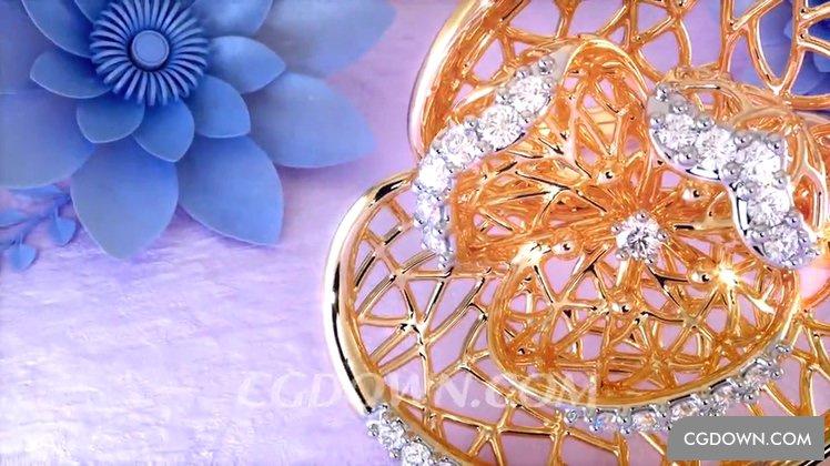 璀璨华丽珠宝高贵拍摄视频素材