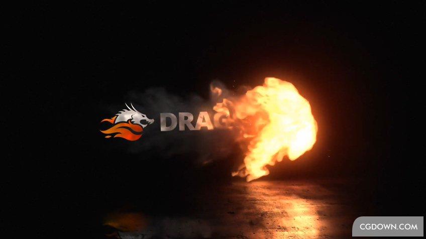 炽热火焰烟雾自媒体logoPR模板