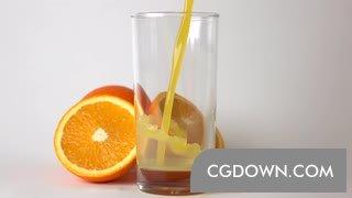 橙汁视频素材