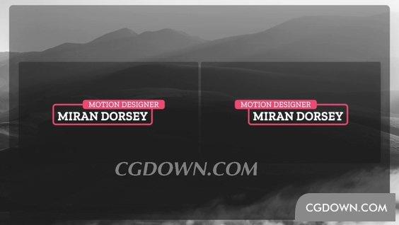 标题,边框,红色,红色简洁边框标题字幕视频素材