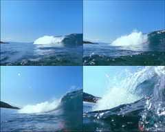 大海,海浪,猛烈,凶猛,力量,游泳,夏天,晴天,水下摄影,波涛汹涌
