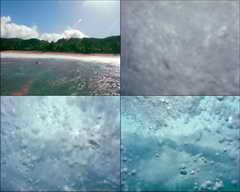 大海,海浪,猛烈,凶猛,力量,游泳,阳光,太阳,夏天,晴天,水下摄影
