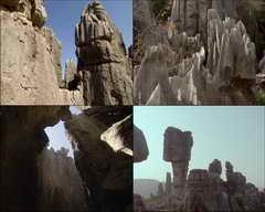奇石,山峦,时间流逝,白云视频素材影视模板