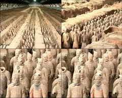 SPJX0237 兵马俑,世界八大奇迹,秦始皇陵,西安,骊山,文物视频素材影视模板