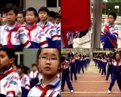 <b>学生,学校,人物,东方,升旗,体操,做操,健康</b>