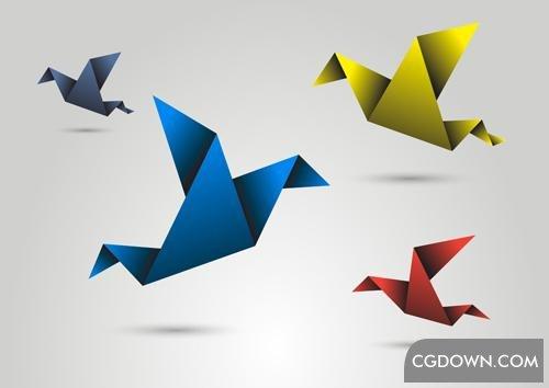 收集的各种类型精品折纸图形高清视频素材,ae模板下载