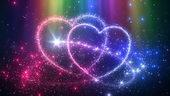 浪漫绚丽的心心相印,心
