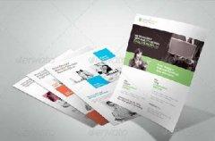 模板 视频素材/创意设计公司宣传单页模板