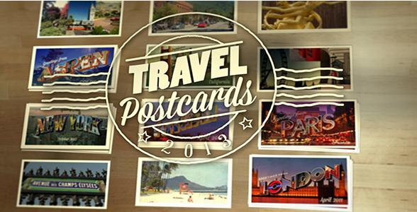 旅游明信片,旅游的景点影像展示视频素材