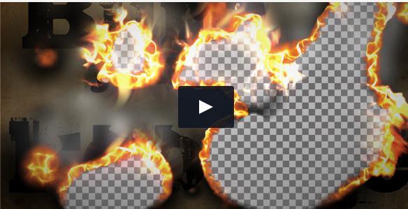 火焰燃烧纸张转场划幕