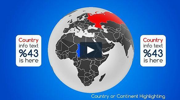 地图/真实世界地球仪地图AE项目