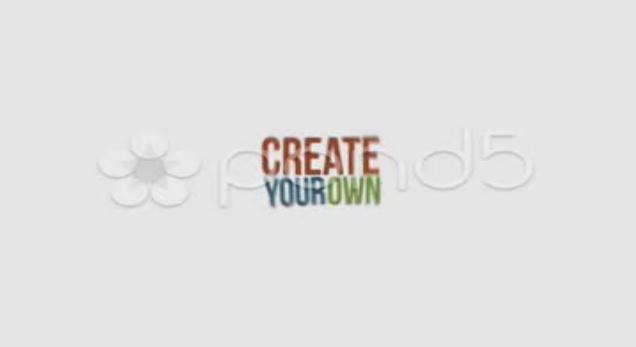 简洁创意的文字排版,排版视频素材