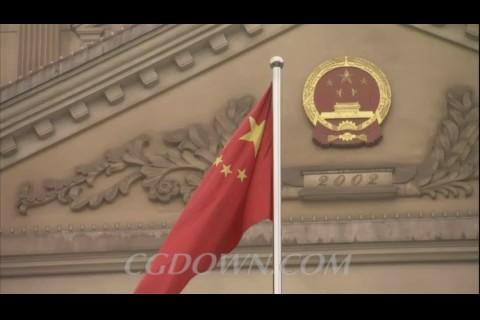 红旗,国徽,国家权威,庄严