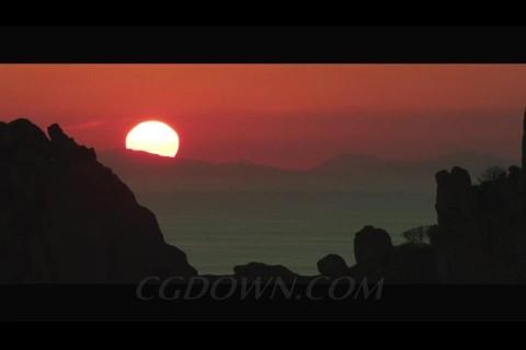 一组美轮美奂的日落,日落,夕阳,大海日落风景