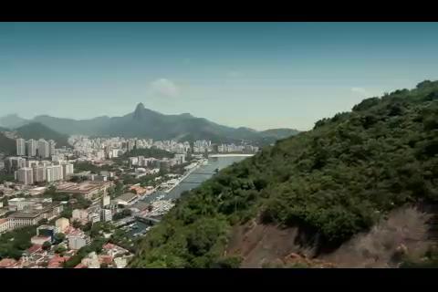 鸟瞰巴西里约热内卢,巴西