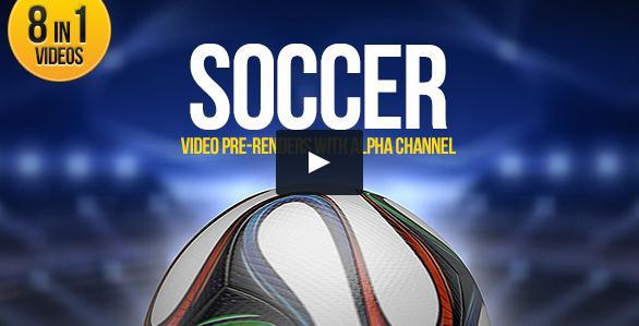 带透明通道八种足球运动动画,足球,通道