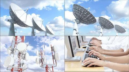 接收卫星信号,信号发射,科技,时代进步