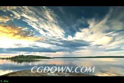大气优美的湖光景色