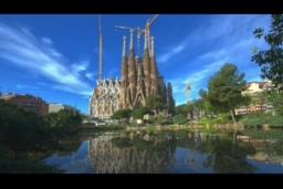 西班牙巴塞罗那城市延时风光,西班牙,巴塞罗那