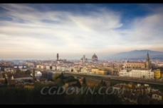 延迟,摄影,风光,城市,佛罗伦萨,意大利,视频素材