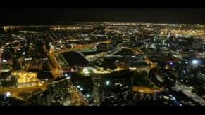 墨尔本城市夜景延迟摄影,墨尔本,城市,夜景