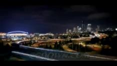 城市,车流,夜景,发展,发达