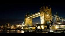 英国伦敦城市建筑夜景,伦敦,夜景