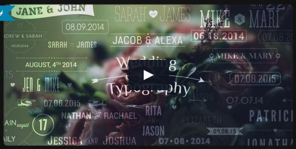 婚礼视频模板用到的各种浪漫欧式标题,婚礼