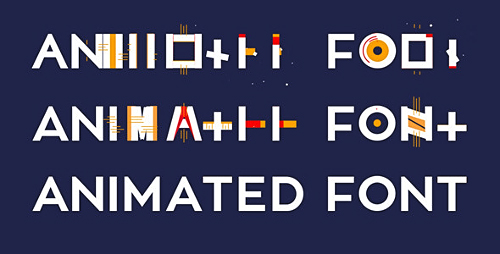 每个时尚的动画字母及符号AE工程,符号,字母