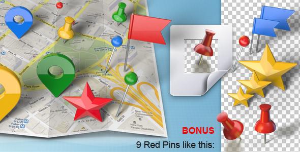 各式各样的地图标记图钉动画,地图,标记,图钉