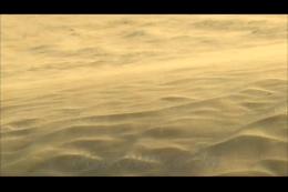 荒无人烟的沙漠粉尘,沙漠