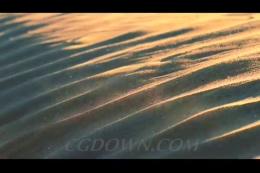 沙漠中的粉尘晶体飞扬,沙漠,沙子