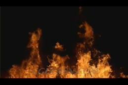 黑色背景熊熊火焰,大火
