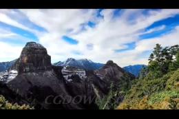 台湾,蓝天,山峰,风光,山顶,尖山,美的,大霸,视频素材