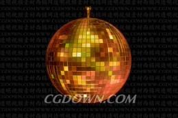带透明通道的舞台旋转金色反光球,通道,舞台