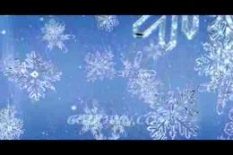 飘落的精致水晶雪花冰雪奇缘特写,雪花,无缝循环