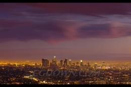 高清延时洛杉矶城市风光,洛杉矶
