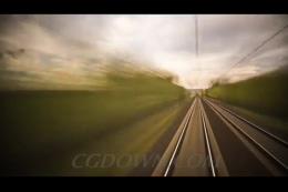延迟拍摄火车快速前进,火车,快速