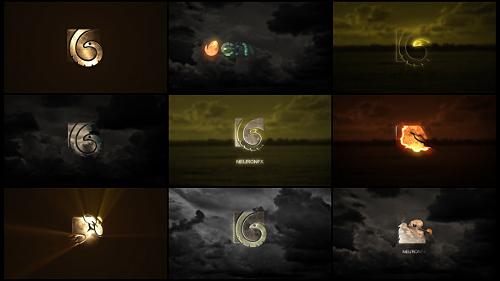 10个电影制作公司开场logo片头,电影,logo视频素材