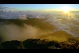 山顶云层云海日出,云,日出