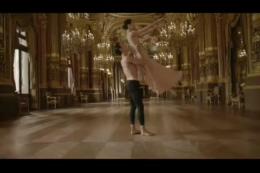 优美高贵典雅巴黎双人舞,自由,梦想