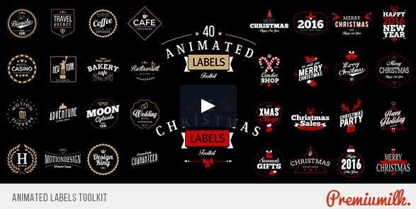 多种动态logo标签工具包!,简单创建您自己的标识