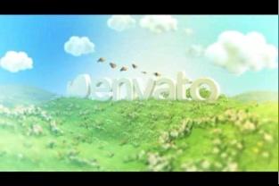 logo,片头,展现,草地,蓝天,白云,大自然,视频素材