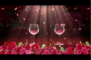 婚礼交杯酒背景视频
