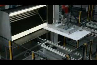 光伏太阳能片生产车间,太阳能
