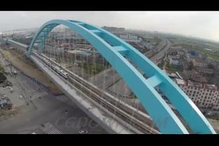 航拍大桥,高铁,动车