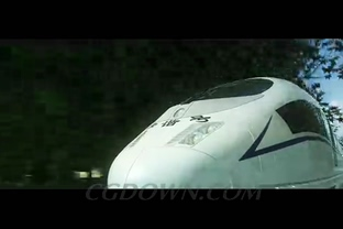 高铁动车城市城郊宣传动画