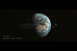 大气深邃的宇宙地球视频,地球视频素材影视模板